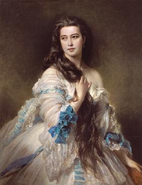 Portrait of Madame Rimsky-Korsakov (1833-78), born Varvara Dmitrievna Mergassov 1864