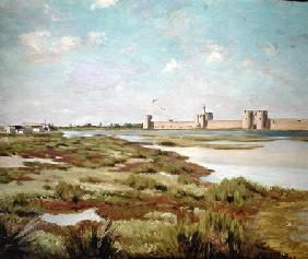 Bazille, Fr�d�ric : The City Walls of Aigues-M...