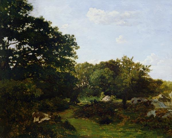 F.Bazille / Edge of the forest / 1865