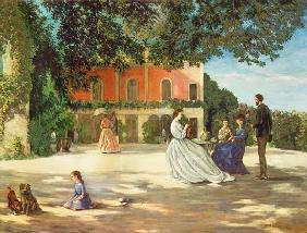 Bazille, Fr�d�ric : Family Reunion on the Terr...