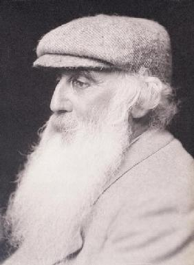 Portrait of Camille Pissarro (1830-1903) (b&w photo)