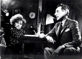 Sidonie Gabrielle Colette (1873-1954) and Jean Cocteau (1889-1963), c. 1950 (b/w photo)