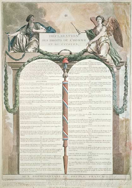 Declaration of the Rights of Man, 10th A - French School as art ...