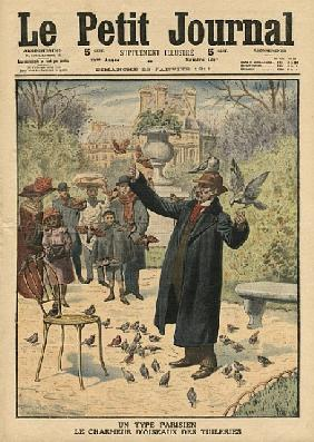A Parisian type, the bird charmer of the Tuileries, illustration from ''Le Petit Journal'', suppleme