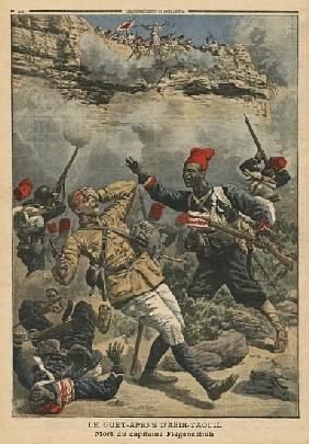 Ambush at Abir-Taouil, death of Captain Fiegenschuh, illustration from ''Le Petit Journal'', supplem