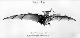 Avion III, ''The Bat'', designed Clement Ader (1841-1925) at the Satory military camp, October 1897