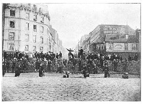Barricade at the Faubourg Saint-Antoine during the Commune, 18th March 1871
