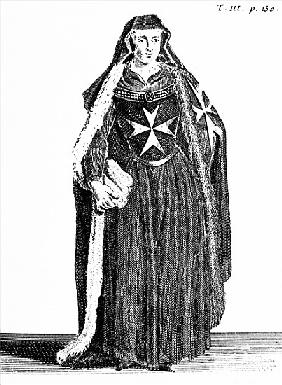 Canoness of the Order of St. John of Jerusalem during the Rhodian period, illustration from ''Histoi