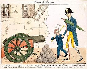Caricature of Charles X (1757-1836) and the Henri (1820-83) Duc de Bordeaux, 25th July 1830