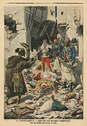 Casablanca after the bombing, illustration from ''Le Petit Journal'', supplement illustre, 25th Augu