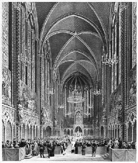 Celebration of the mass for the magistrature at the Sainte Chapelle, c.1849