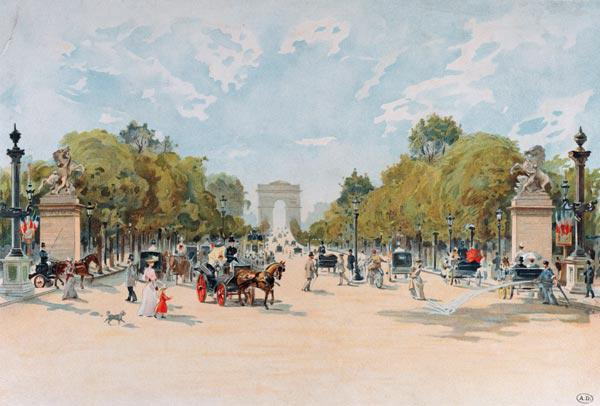 The Avenue des Champs-Elysees