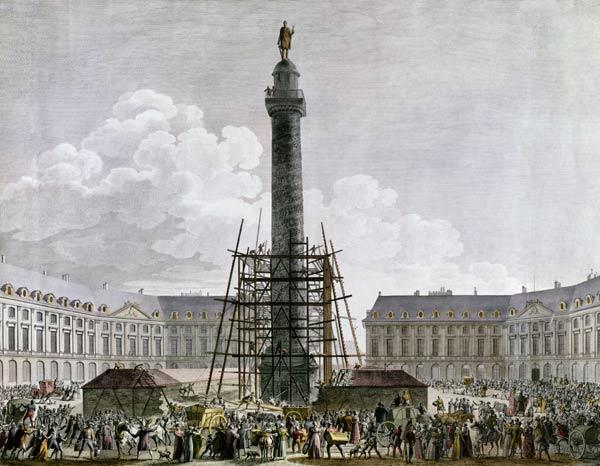 Construction of the Vendome Column in 1803-10