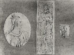 Eleanor of Aquitaine (c.1122-1204): Portrait in Profile, Recumbant, and on her Throne  (see also 155