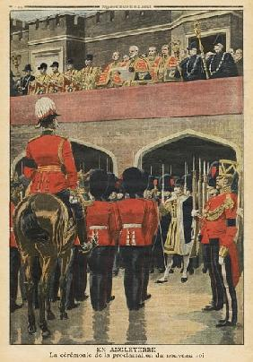 England, proclamation of the new King George V, illustration from ''Le Petit Journal'', supplement i