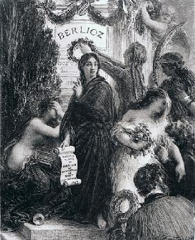 Engraving dedicated to the memory of Hector Berlioz
