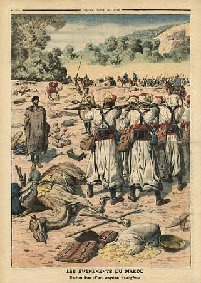 Execution of a Moroccan spy, illustration from ''Le Petit Journal'', supplement illustre, 28th May 1