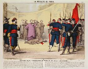Execution of the Archbishop of Paris, Monseigneur Darboy, during the Paris Commune