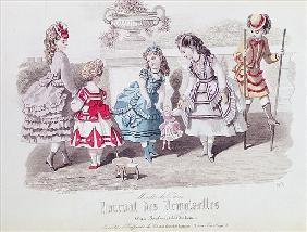 Fashions for Girls, from ''Journal des Demoiselles'', published Dupuy, Paris