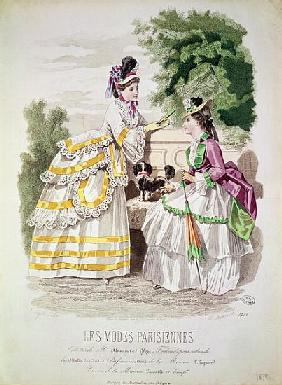 Female fashions, from ''Les Modes Parisiennes'' 1870