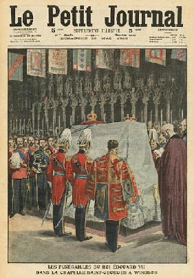 Funeral of King Edward VII in St. George''s chapel at Windsor, illustration from ''Le Petit Journal'