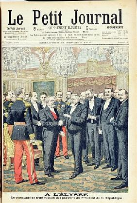 In the Elysee Palace, the Ceremonial Transfer of Powers of the President of the French Republic, ill