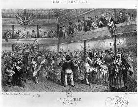 La Courtille, popular dance; engraved by Yves (19th century)