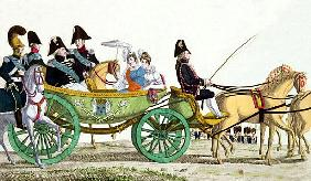 Louis XVIII (1755-1824) and his Family Reviewing the Royal Troops at the Champ de Mars, 20th June 18