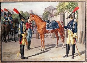 Officer and Guard of the Royal Guard in 1826