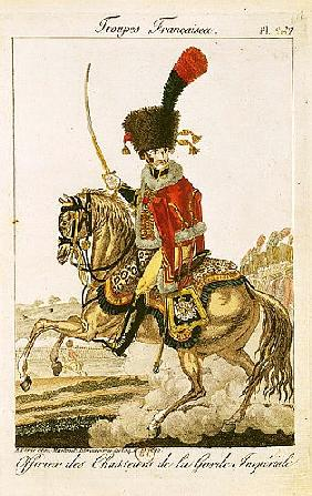 Officer of the Hussars of the Imperial Guard during the First Empire