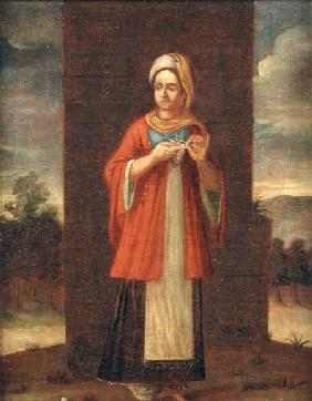 Portrait of a Turkish woman (for pair see 72902)