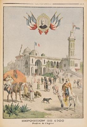 The Algerian Pavilion at the Universal Exhibition of 1900, Paris, illustration from ''Le Petit Journ