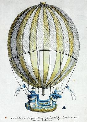 The Balloon of Jacques Charles (1746-1823) and Nicholas Robert (1761-1828) used in their flight from