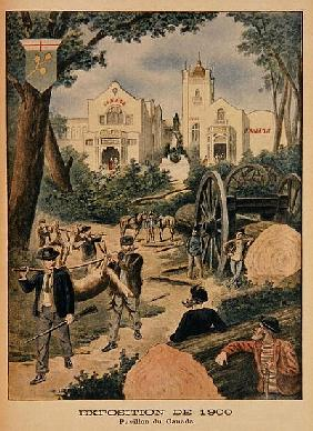 The Canadian Pavilion at the Universal Exhibition of 1900, Paris, illustration from ''Le Petit Journ