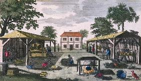 The Colonial Household, illustration from ''Histoire des Antilles'' Jean Baptiste Labat (1663-1738)