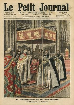 The Coronation of King George V (1865-1936) and the Ceremony of Unction at Westminster Abbey, 23 Jun