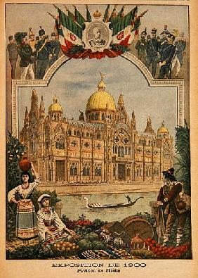 The Italian Pavilion at the Universal Exhibition of 1900, Paris, illustration from ''Le Petit Journa