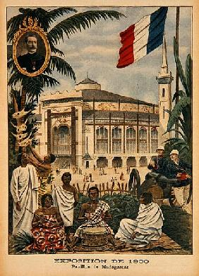 The Malagasy Pavilion at the Universal Exhibition of 1900, Paris, illustration from ''Le Petit Journ