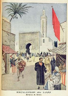 The Moroccan Pavilion at the Universal Exhibition of 1900, Paris, illustration from ''Le Petit Journ