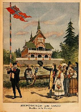 The Norwegian Pavilion at the Universal Exhibition of 1900, Paris, illustration from ''Le Petit Jour