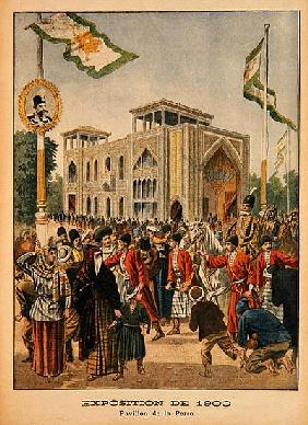The Persian Pavilion at the Universal Exhibition of 1900, Paris, illustration from ''Le Petit Journa
