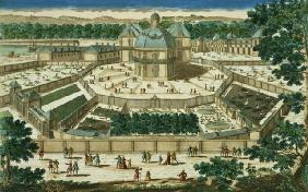 View and Perspective of the Salon de la Menagerie at Versailles, engraved by Antoine Aveline (1691-1