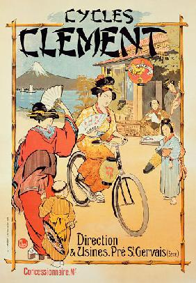 Poster advertising 'Cycles Clement', Pre Saint-Gervais