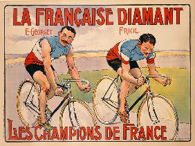 Poster advertising 'La Francaise Diamant'