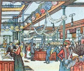 The Department Store, illustration from 'Cours Schweiter', c.1900 (colour litho)