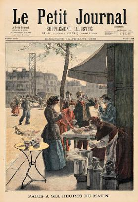 Paris at Six O''Clock in the Morning, from ''Le Petit Journal'', 14th July 1895