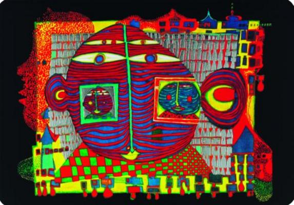 Friedensreich Hundertwasser As Art Print Or Hand Painted