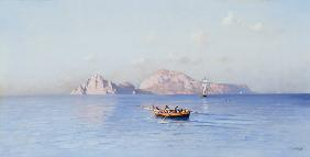Nerly, Friedrich : Look on Capri of the north...