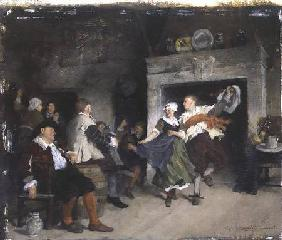 Couple Dancing in a Tavern