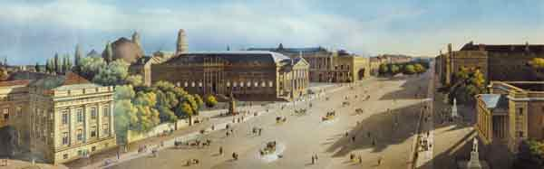 Unter den Linden from the Armoury, c.1855
